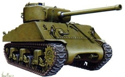 Armourfast Sherman M4A3 76mm x 2. £7.50