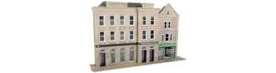 po271. Low relief bank & shops. £11.50